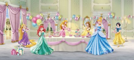 Princesses ballroom panoramic mural wallpaper 202x90cm